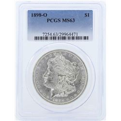 1898-O $1 Morgan Silver Dollar Coin PCGS MS63