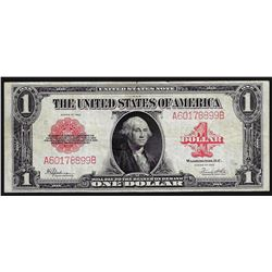 1923 $1 Red Seal Legal Tender Note