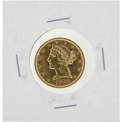 1906-S $5 Liberty Head Half Eagle Gold Coin