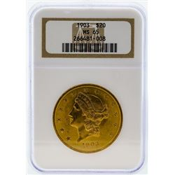 1903 $20 Liberty Head Double Eagle Gold Coin NGC MS65