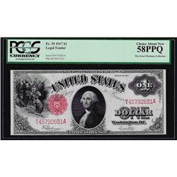 1917 $1 Legal Tender Note PCGS Choice About New 58PPQ
