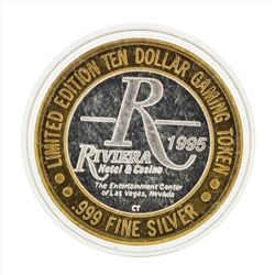 .999 Silver Riviera Hotel and Casino $10 Casino Gaming Token Limited Edition
