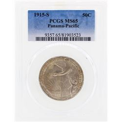1915-S Panama Pacific Commemorative Half Dollar Coin PCGS MS65