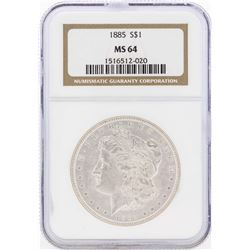 1885 $1 Morgan Silver Dollar Coin NGC MS64