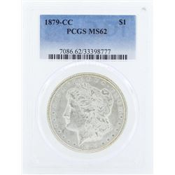 1879-CC $1 Morgan Silver Dollar Coin PCGS MS62