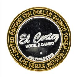 .999 Silver El Cortez Hotel and Casino $10 Casino Gaming Token Limited Edition