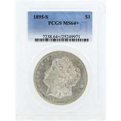 1895-S $1 Morgan Silver Dollar Coin PCGS MS64+