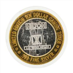.999 Silver Hilton Las Vegas $10 Casino Gaming Token Limited Edition