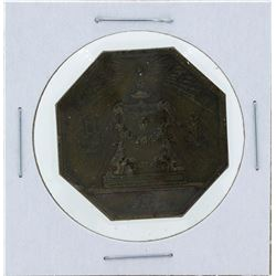 1823 France Octagonal Beaux Arts Jeton Coin