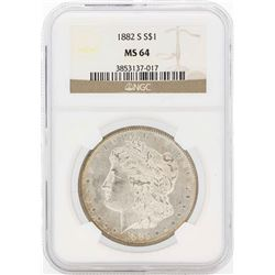 1882-S $1 Morgan Silver Dollar Coin NGC MS64