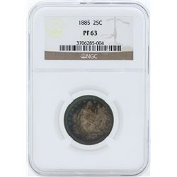 1885 Liberty Seated Proof Quarter NGC PF63