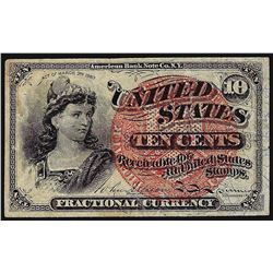 March 3, 1863 10 Cents 4th Issue Fractional Note