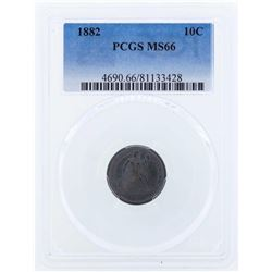 1882 Seated Liberty Dime Coin PCGS MS66
