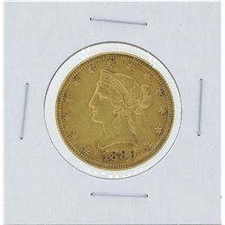 1889-S $10 Liberty Head Eagle Gold Coin