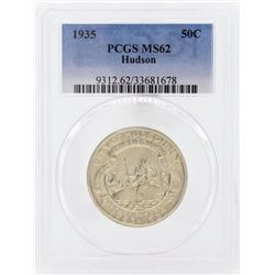 1935 Hudson Commemorative Half Dollar Coin PCGS MS62