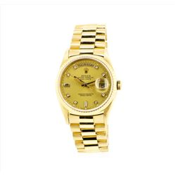 Rolex Mens President 18KT Yellow Gold Double Quickset DayDate Wristwatch