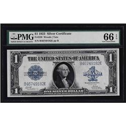 1923 $1 Silver Certificate Note PMG Gem Uncirculated 66EPQ