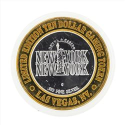 .999 Silver New York New York $10 Casino Gaming Token Limited Edition