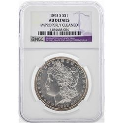 1893-S $1 Morgan Silver Dollar Coin NGC AU Details