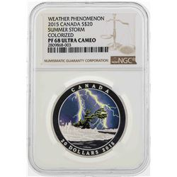 2015 Canada $20 Weather Phenomenon Colorized Silver Coin NGC PF68 Ultra Cameo