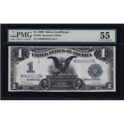 1899 $1 Black Eagle Silver Certificate Note PMG About Uncirculated 55