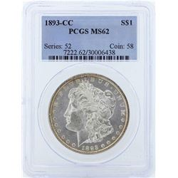 1893-CC $1 Morgan Silver Dollar Coin PCGS MS62
