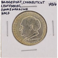 1936 Bridgeport Connecticut Centennial Commemorative Half Dollar Coin