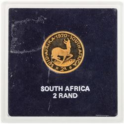 1970 South Africa 2 Rand Gold Coin