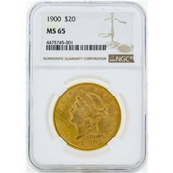 1900 $20 Liberty Head Double Eagle Gold Coin NGC MS65