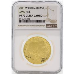 2011-W $50 1 oz Proof Gold Buffalo Coin NGC PF70 Ultra Cameo