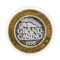 .999 Silver Grand Casino $10 Casino Gaming Token Limited Edition