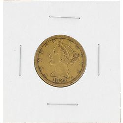 1893-S $5 Liberty Head Half Eagle Gold Coin