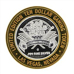 .999 Silver Las Vegas Club $10 Casino Gaming Token Limited Edition