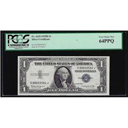 1935H $1 Silver Certificate Note PCGS Very Choice New 64PPQ