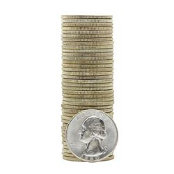 Roll of (40) 1960 Brilliant Uncirculated Washington Quarters