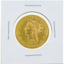 1901 $10 Liberty Head Eagle Gold Coin