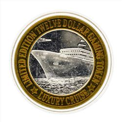 .999 Silver Luxury Cruise $10 Casino Gaming Token Limited Edition