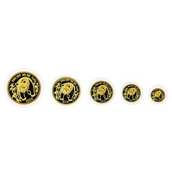 1986 China Panda Gold Coin Proof Set