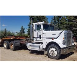 "1979 Freightliner, CAT 3208 eng., 15 spd., 234"" wb, day cab, 6-digit odometer reads 214,000 mi., goo"