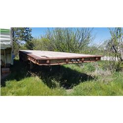 1971 Utility 40' flat deck trailer, air brakes, spring suspension
