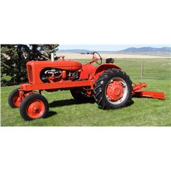 Allis-Chalmers WD45 gas tractor, wide front, 3 pt., pto, 35 hp, belt pulley, single hyd., 13.6/28 re