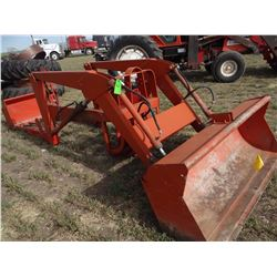 Ford 19-336 loader w/ bucket & manure fork, fits Ford 800-series tractors