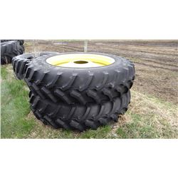 (2) Goodyear 480/80R46 tractor tire on yellow rims, brand new!