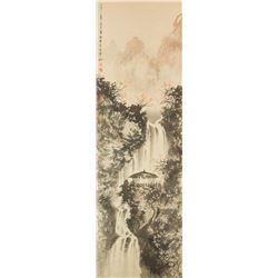 Fu Baoshi 1904-1964 Watercolour on Paper Roll