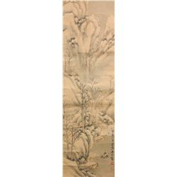 Lin Shu 1852-1924 Chinese Watercolour Paper Roll