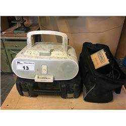LOT OF ASSORTED POWER TOOLS & RADIO