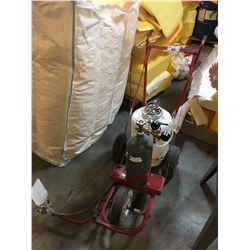 LINE PAINTING SYSTEM ON RED METAL MOBILE CART