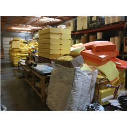 ALL ASSORTED FOAM CONTENTS LOCATED IN BACK WAREHOUSE