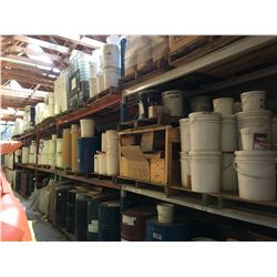 ALL ASSORTED CHEMICALS LOCATED IN BACK WAREHOUSE