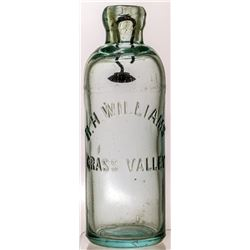 RH Williams Soda Bottle (Grass Valley, California)
